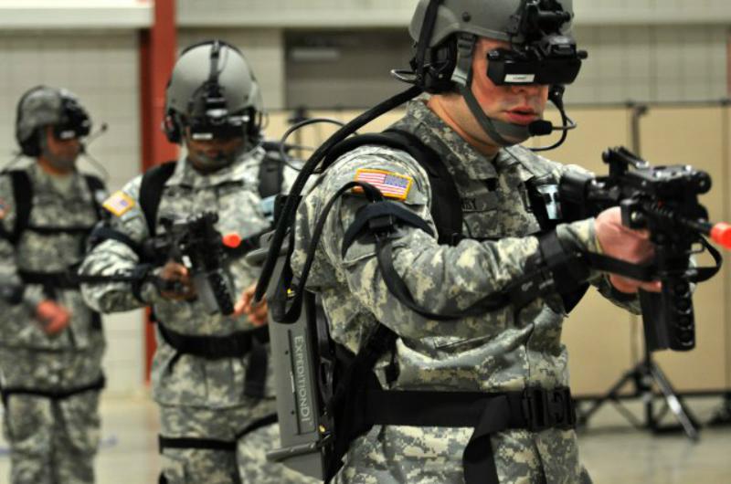 Виртуальные тренажерны для обучения солдат